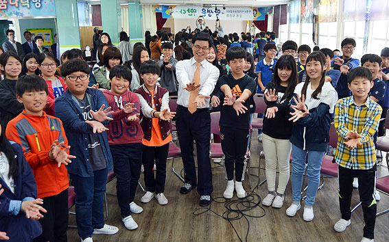 4일 오후 1시 30분 제주북초등학교에서 열린 '나의 꿈 이야기' 교육감-학생 공개토론회.<헤드라인제주>