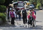[포토] 장애인과 함께하는 스토리기행 '열 사람의 한 걸음'