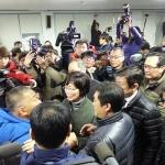 아수라장으로 변한 제주 제2공항 설명회...결국 파행 '종료'