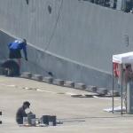 제주해군기지 쓰레기와 군함도색, 강정바다 환경 위협