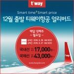 """티웨이항공 얼리버드 항공권 특가 이벤트...""""제주 1만7천원부터"""""""