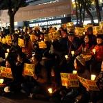"""제주, 국정농단 규탄 촛불집회...""""이게 나라냐?, 대통령 하야하라"""""""