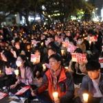 """[1보] 제주도 '5천 촛불' 타올랐다...""""박근혜 퇴진하라!"""" 함성"""