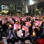 """제주도 제2의 '6월항쟁' 방불...""""박근혜 퇴진"""" 6천 촛불 타올랐다"""