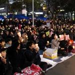 """'송朴영신' 제주 촛불집회...거리로 나선 시민들 """"박근혜 즉각 퇴진!"""""""