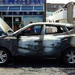 제주, 학교앞 주차된 SUV차량 화재로 전소