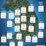 [내일 날씨] 초여름 더위 계속...밤부터 '빗방울', 5~10mm
