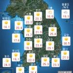 [내일 날씨] 맑고 강한 햇살...찬공기 유입 '서늘한 바람'