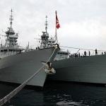 연합훈련 참가 캐나다 해군함정, 제주기지 입항