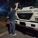 화북동, 화북공업단지 주변 사업용자동차 밤샘주차 불법주차 계도 활동