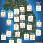 [내일 날씨] 강렬한 햇살, 대체로 맑음...밤부터 점차 흐림