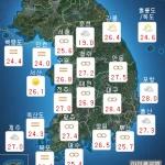 [내일 날씨] 흐리고 낮동안 산발적 빗방울...미세먼지 농도 '나쁨'
