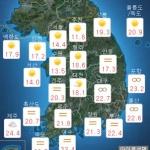 [오늘 날씨] 흐리고 낮에 산발적 빗방울...미세먼지 농도는?
