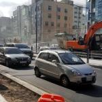 이도~아라동 '중앙차로제' 첫 월요일, 법원 앞 '동맥경화'