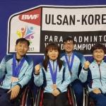 제주선수, '장애인 배드민턴 세계대회'서 동메달 4개 획득