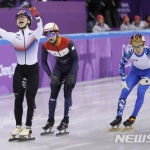 임효준, 한국 첫 금메달..쇼트트랙 1500m '우승'