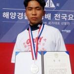 제주 김진우 선수, 해양경찰청장배 요트대회 '은메달'