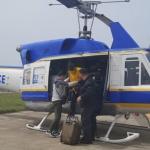 제주경찰, 화물차 숨어 제주이탈 중국인 헬기타고 추격