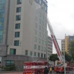 대륜119센터, 윈스카이호텔 화재대비 소방훈련