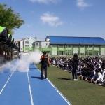 연동119센터, 제주중앙중학교 자위소방대 합동훈련