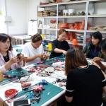 의귀초, 예술꽃 씨앗학교 학부모 예술꽃 동아리 리본공예 운영