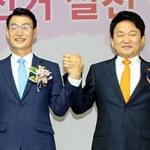 """원희룡-문대림 선거후 첫 '회동'...""""협력.소통할 것"""""""