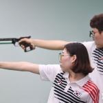 사격 이대명·김민정, 10m 공기권총 혼성 은메달