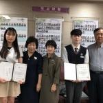 제주간호사회, 한국뷰티고 우수학생에 장학금 전달