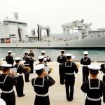 해군 국제관함식 참가 외국 함정 잇따라 제주기지 입항