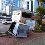 제주 출근길 버스-트럭 충돌...인명피해 없어
