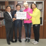 개그맨 장윤석.최재원, 4.3평화재단에 성금 기탁