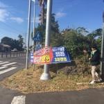 예래동, 가로변 불법 유동광고물 정비
