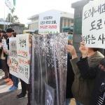 """비자림로지키기 시민모임 """"비자림로 확장 대안 폐기하라"""""""