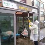 용담2동, 버스 승차대 환경정비 캠페인 전개