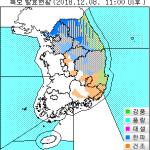 [날씨] 산간지역 눈 '펑펑'...한파.대설특보 발효 지역은?