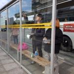 대륜동, 비가림 버스승차대 불법광고물 제거