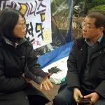 """단식농성 김경배씨측 """"원희룡 지사, 11일 '공개 면담' 하자"""""""