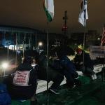 제주도, 도청 '옥상 시위' 농성자 무단침입 혐의 고발