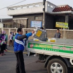 봉개동, 도로 위 불법 적치물 금 홍보활동 전개
