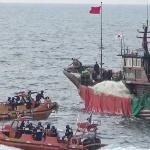 제주, 바다에 기름 유출 중국 어선 나포