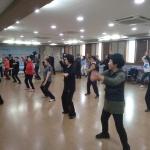 용담2동, 도민체전 참여 스포츠 댄스 격려