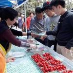 한국부인회 제주도지부, 방선문축제서 농산물 시식행사 진행