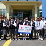 남원중학교 학생일동, 재일제주인 1세대 돕기 성금 전달에 동참