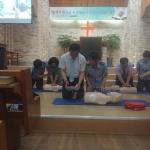 노형119센터-노형의용소방대, 노형중앙교회서 심폐소생술 교육