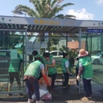 예래동새마을부녀회, 불법광과물 제거 및 버스 정류장 환경정비