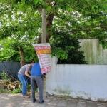 서홍동주민센터, 불법광고물 등 일제 정비