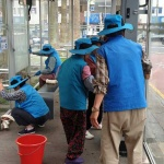 중앙동,  지역내 비가림 버스승차대 정비활동 추진