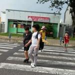 새서귀노인회, 등굣길 교통안전캠페인 활동