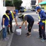 용담2동, 도로위 불법 적치물 단속 활동