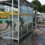 삼도2동새마을지도자협의회, 버스승차대 정비 및 불법광고물 정비